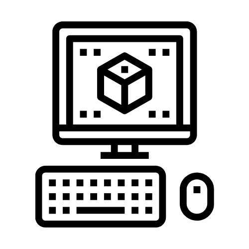 Computer screen showing design